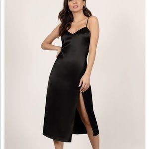 Tobi Satin Midi Dress